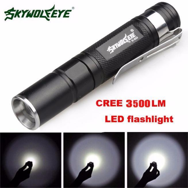 5000Lumens Adjustable 3 Modes Zoomable Q5 LED Flashlight Torch Bright Light