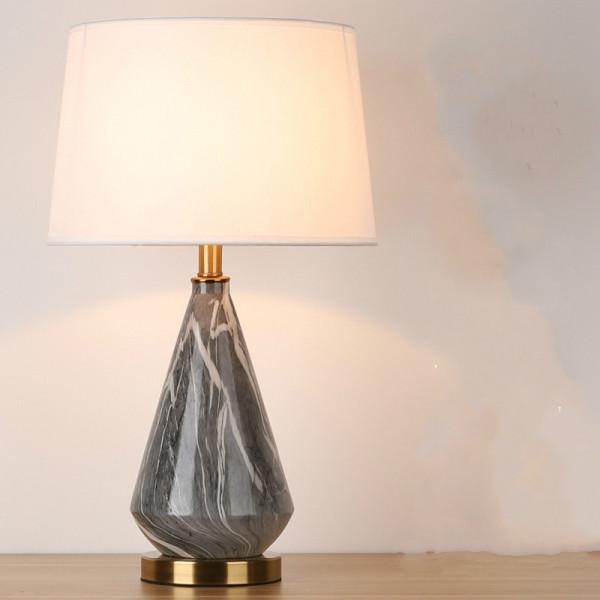 Marbled Ceramic Table Lamp Bedside, Decorative Lamps For Living Room