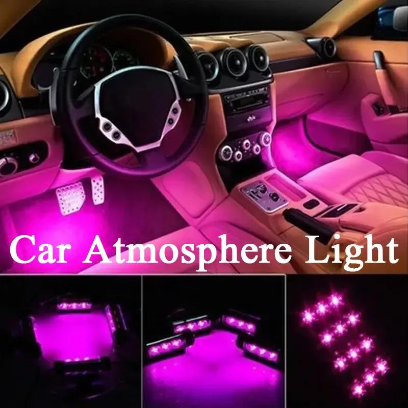 JEI-MEN Car Interior Atmosphere Lamp Sole Atmosphere Lamp Led for Car Charge Interior RGB Light Accessories Foot Car Decorative Black Black