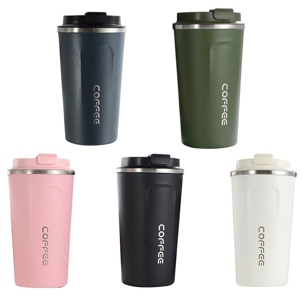Coffee Insulated Mug Tumbler Car Travel Thermos Portable Tea Stainless Steel Cup