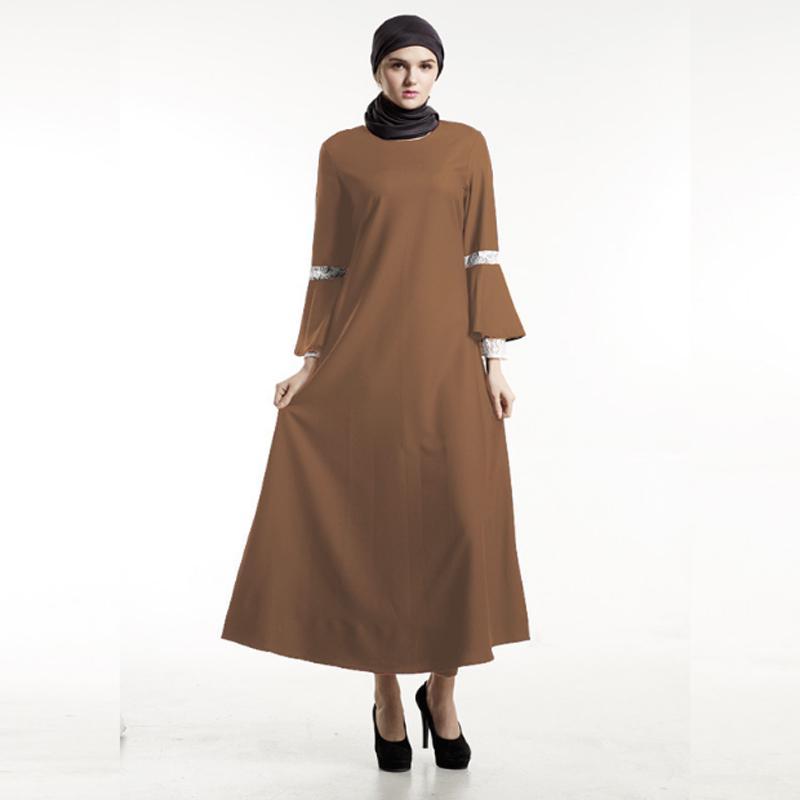 9f631ab9ab6b4 Kadın Müslüman elbise Arap bayanlar Kaftan moda İslami giyim dua ...