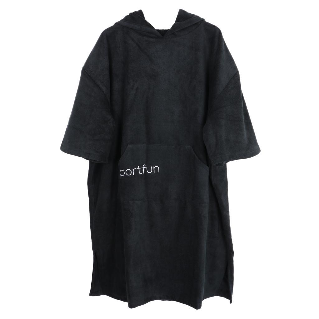 ada2c7af46d Albornoz baño toalla Surf cambiando túnica playa Poncho con capucha ...