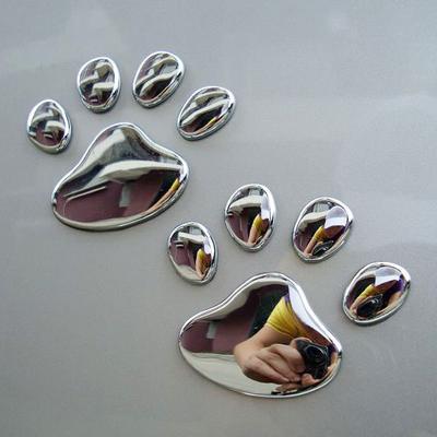 3D Three-dimensional Dog Claw Metal Car Standard Side Modified Decorative Stickers