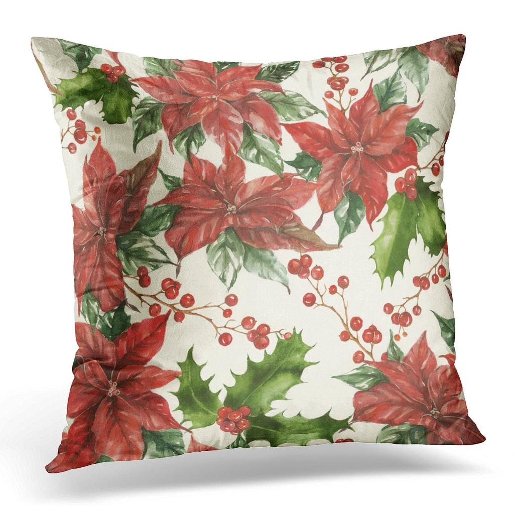 Holly and Berries Pillowcase