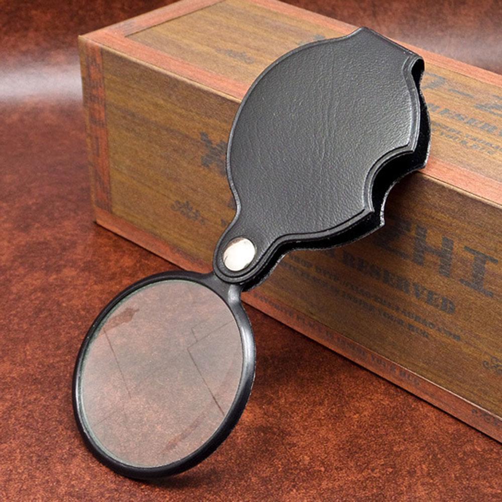5 x карманный складной лупа складная увеличительное стекло объектива мягкой сумке фото