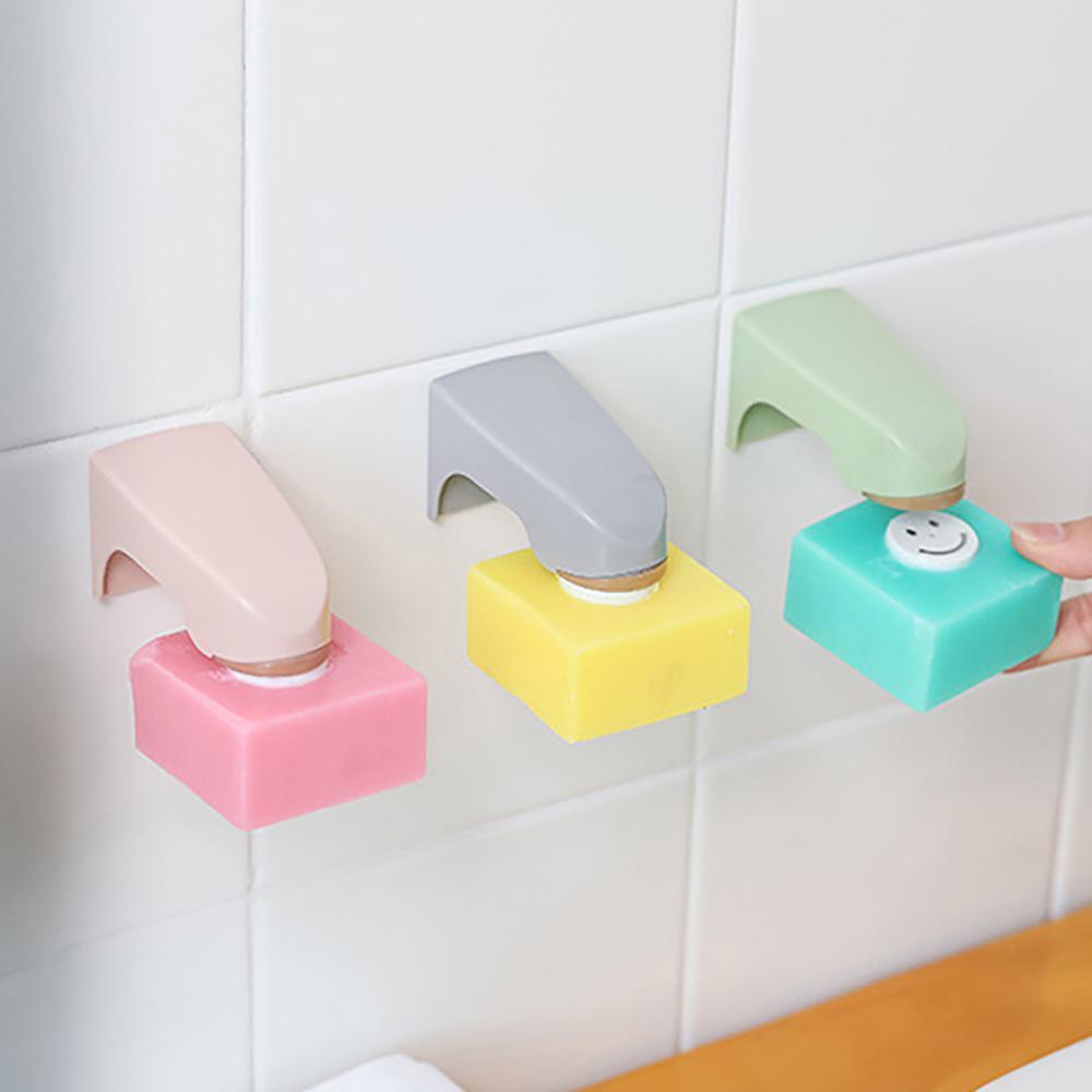 Kreativer Tuch Halter Aufhänger Saugnapf Haken für Badezimmer Küchen Rosa