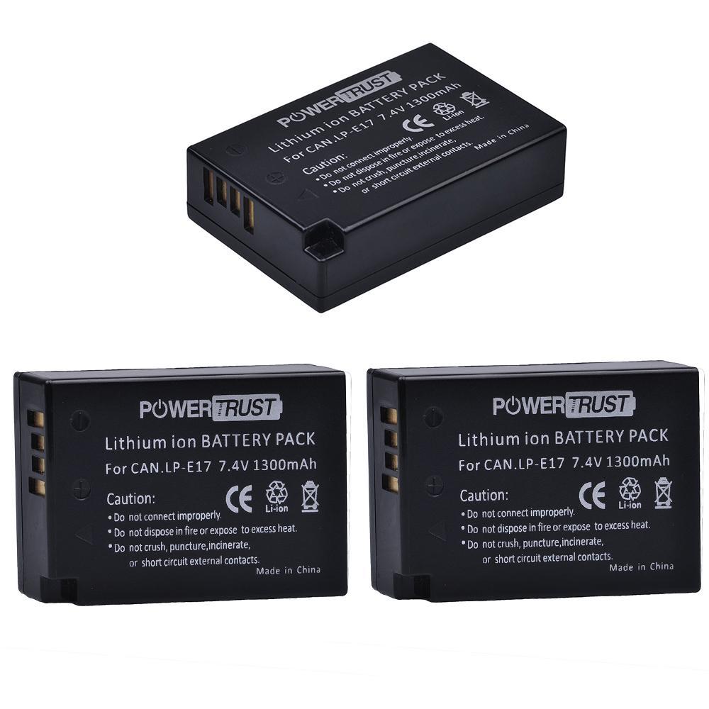 2XLP-E17 Batería y USB Cargador para Canon EOS Rebel T6i T6s T7i 750D 77D 800D M5