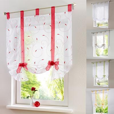Embroider Voile Short Curtains For Kitchen Window Roman Window Blinds Buy At A Low Prices On Joom E Commerce Platform