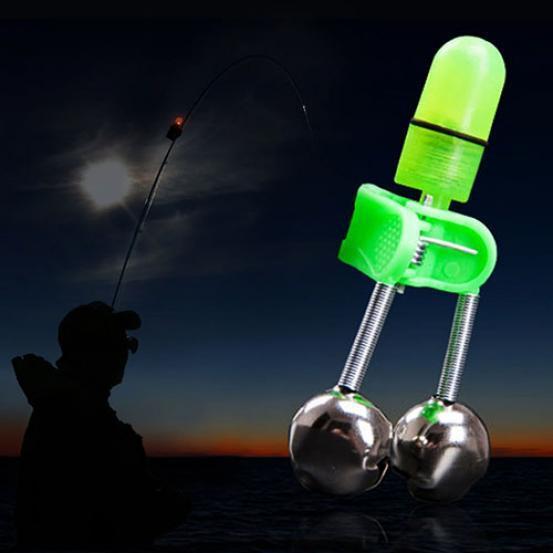 2 Stücke Sea Fishing 2 in 1 LED Angelrute Tipp Clip Auf Nachtlicht Fisch