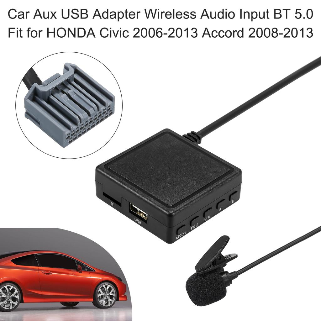 Car Aux Usb Adapter Wireless Audio Input Bt 5 0 Fit For Honda Civic 2006 2013 Accord 2008 2013 Buy At A Low Prices On Joom E Commerce Platform