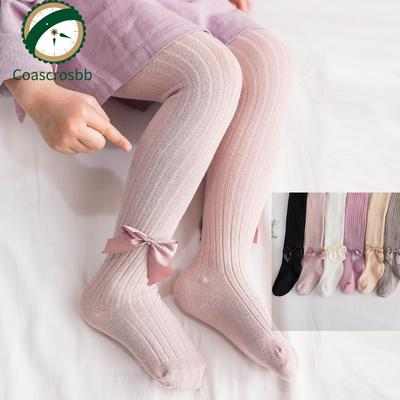 Toddlers Kids Stockings School Girls Lace High Knee Cat Patchwork Socks