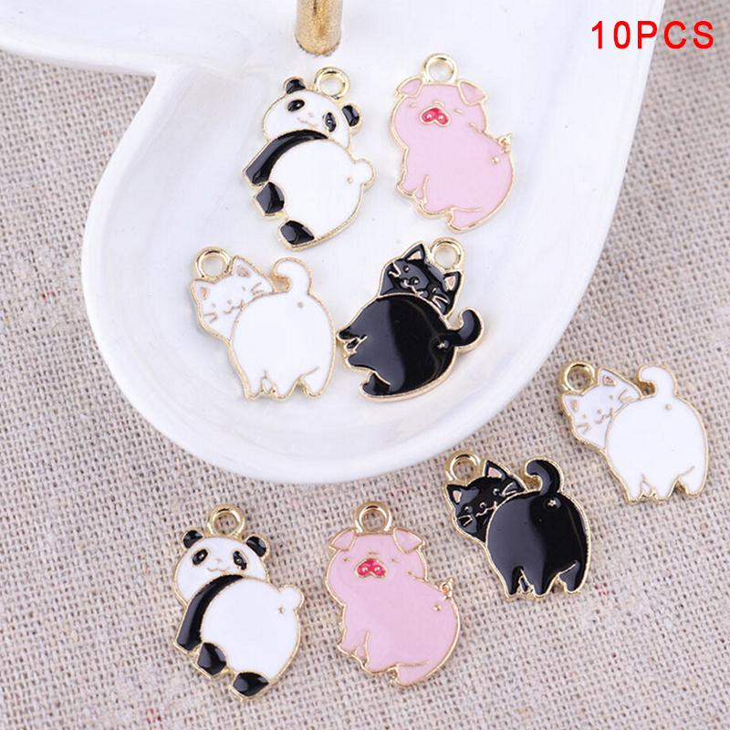 20pcs Cartoon unicorn Drop Oil Alloy Pendant Bracelet necklace earring material