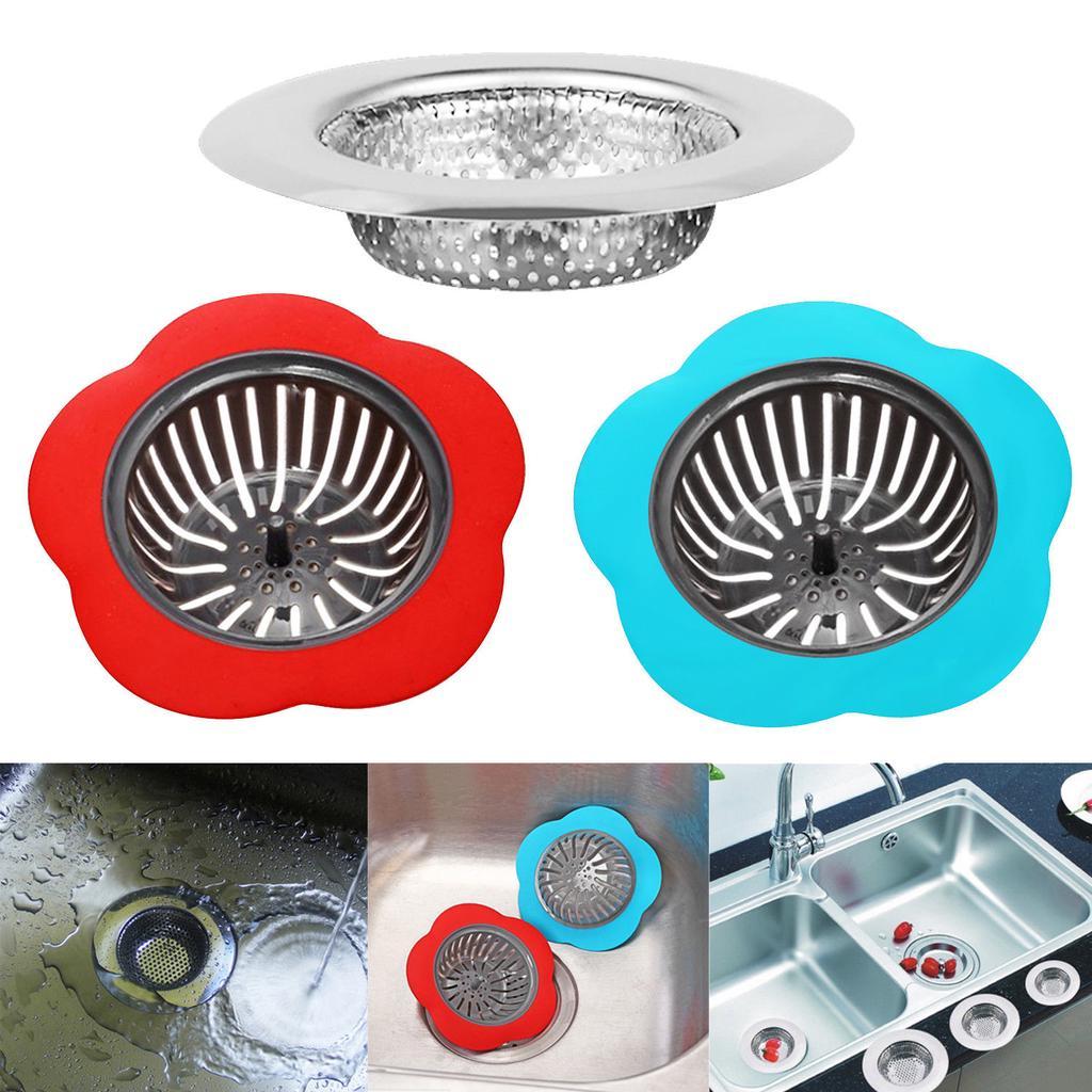 Home Drain Filter Kitchen Sink Drain Plug Bath Shower Hair Strainer Catcher 1pc