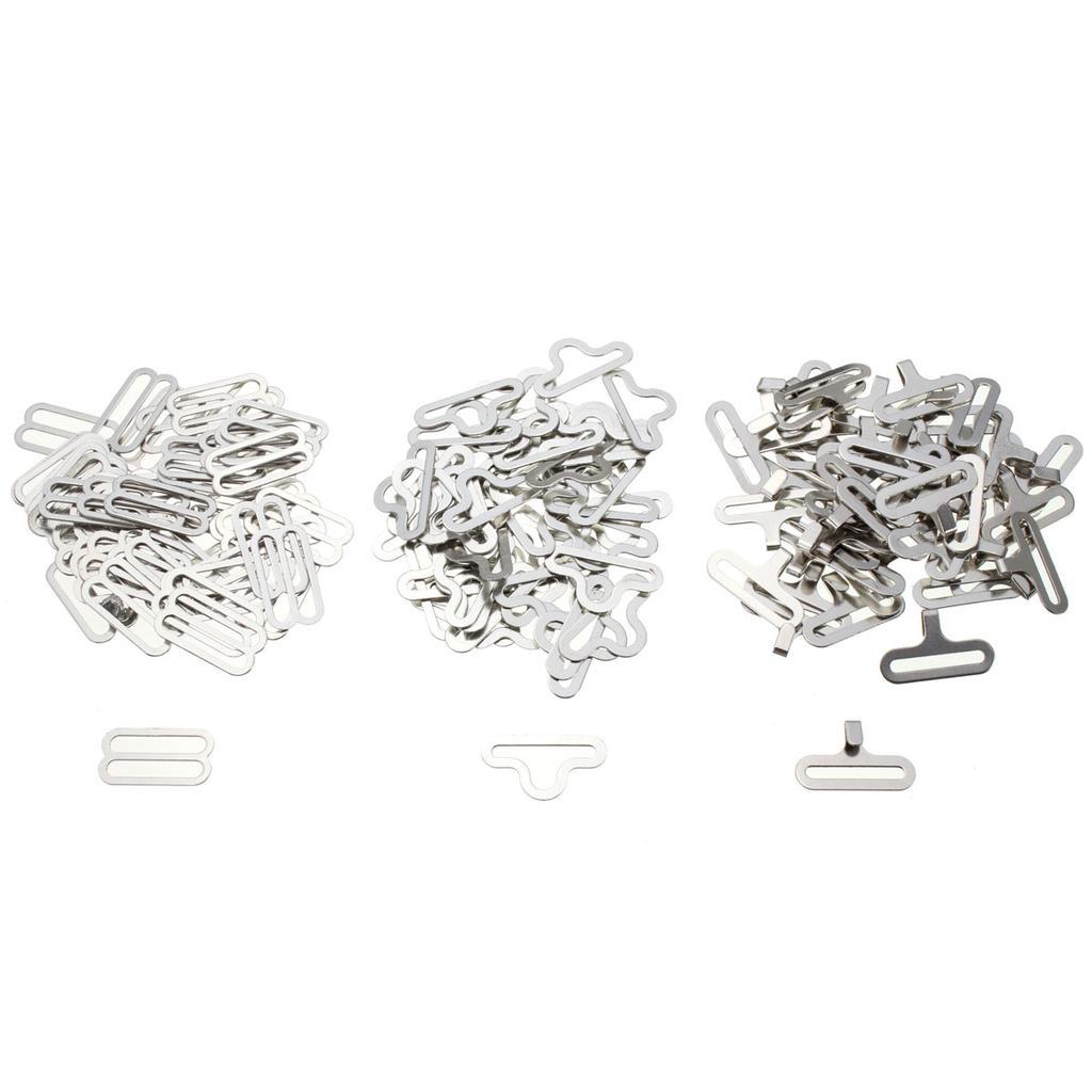 100pc Nylon BH Gurtschnallen Schieber Haken 8 Dessous Nähen Verschlüsse