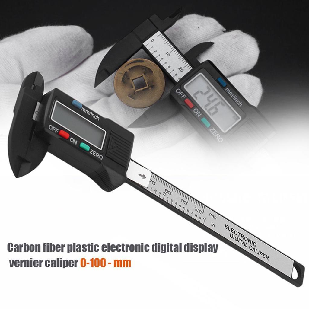Digital Caliper 0-100mm//0.2mm Carbon Fiber Composites MM /& Inch Caliper