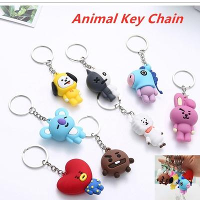 Creative BTS Keychain Youth League Epoxy Car Keychain Pendant Key Chain Ring Pendant