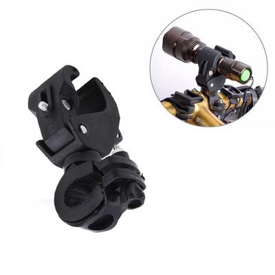 1Pc 360° Rotation Bike Flashlight Handlebar Holder Mount Clip Support Clamp Tool