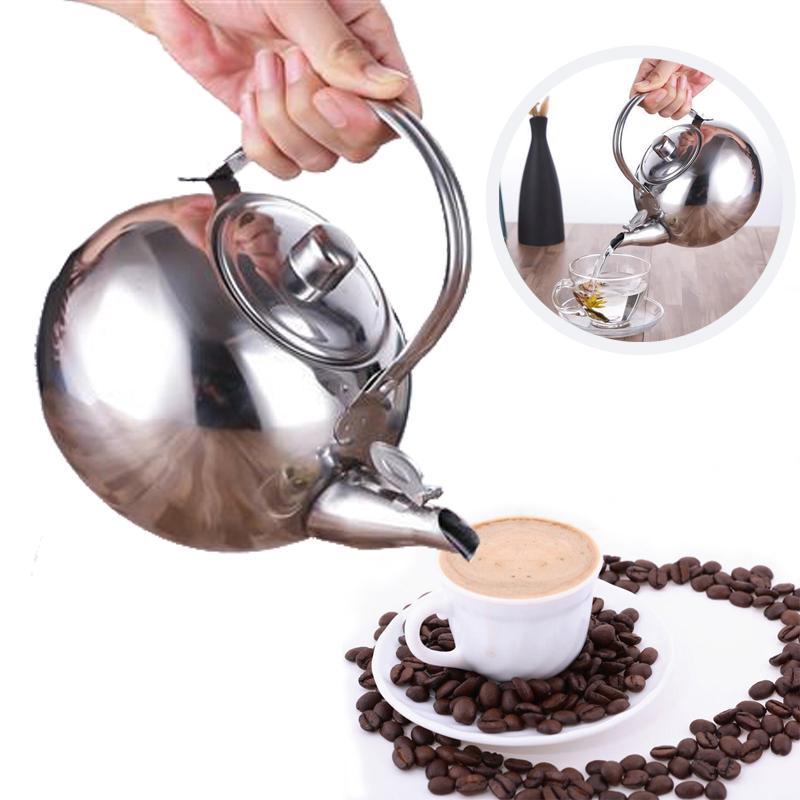 1PC Вода чайник из нержавеющей стали Stovetop Открытый Крытый чайник кофе Серебряный фильтр – купить по низким ценам в интернет-магазине Joom