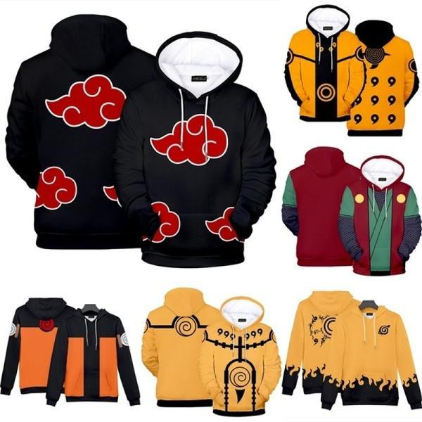 NARUTO0 Kids Hoodies Hooded Pullover Jacket Casual Print Sweatshirts Coat Gift