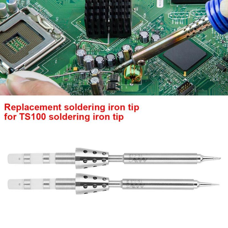 Mini Pen Type Electric Soldering Iron Tip Replacement for TS100 Soldering Iron