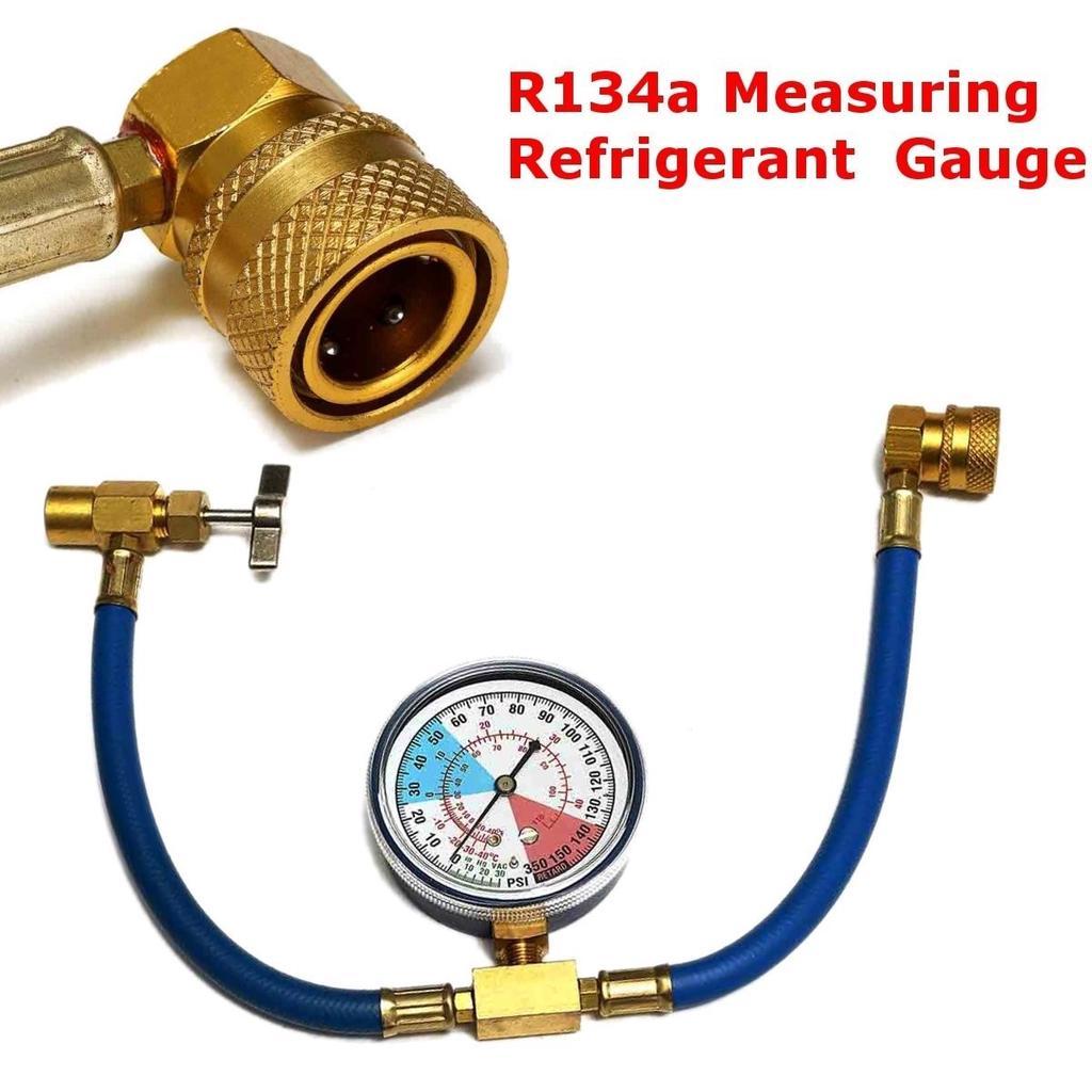 Gauge R-134a R-134 R134 EXTRA LONG HOSE HEAVY DUTY AC Refrigerant Hose Can Tap