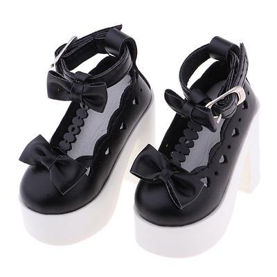 Fashion Bowknot High Heels Shoes for 1//3 BJD Dolls Accessoreis White