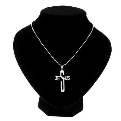 Unisex Men Women Stainless Steel Cross Charm Pendant Chain Necklace Chic Jewelry