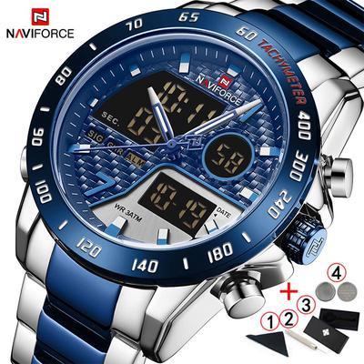 Wrist Watch Men Luxury Brand Waterproof Sport Big Dial Male Wristwatches Display Quartz Men Watches