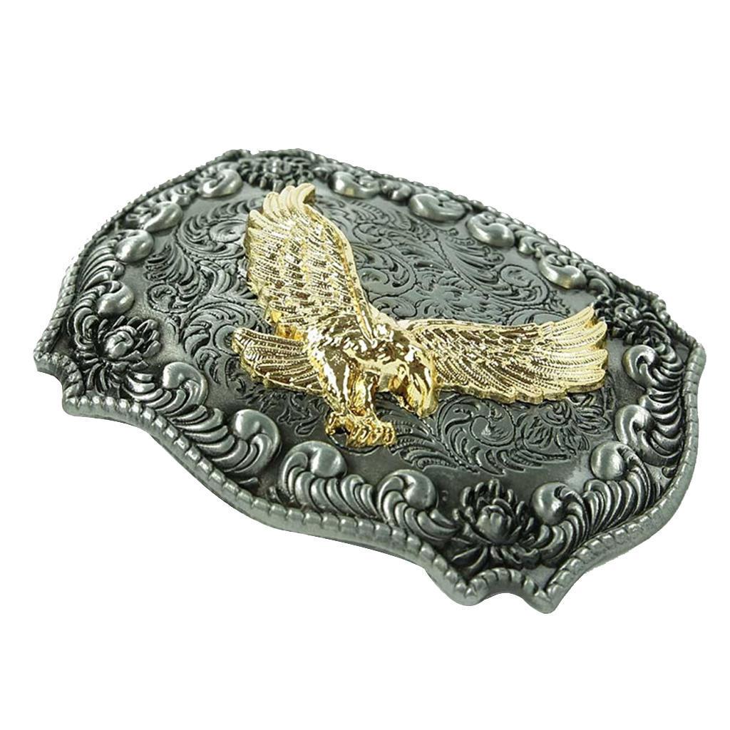 Vintage antique relief or aigle boucle de ceinture Cowboy Western ... a052584631c