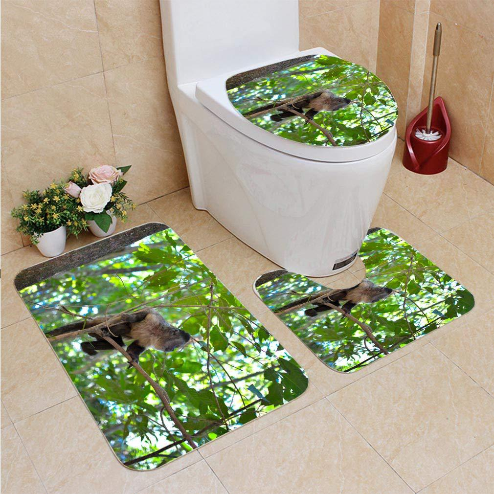 Monkey In Nature 3 Piece Bathroom Rugs Set Bath Rug Contour Mat And Toilet Lid Cover Buy From 26 On Joom E Commerce Platform