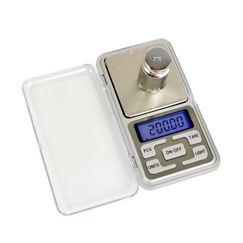 Silver Mini 0.01g-200g LCD Ultrathin Jewelry Drug Digital Portable Pocket Scale