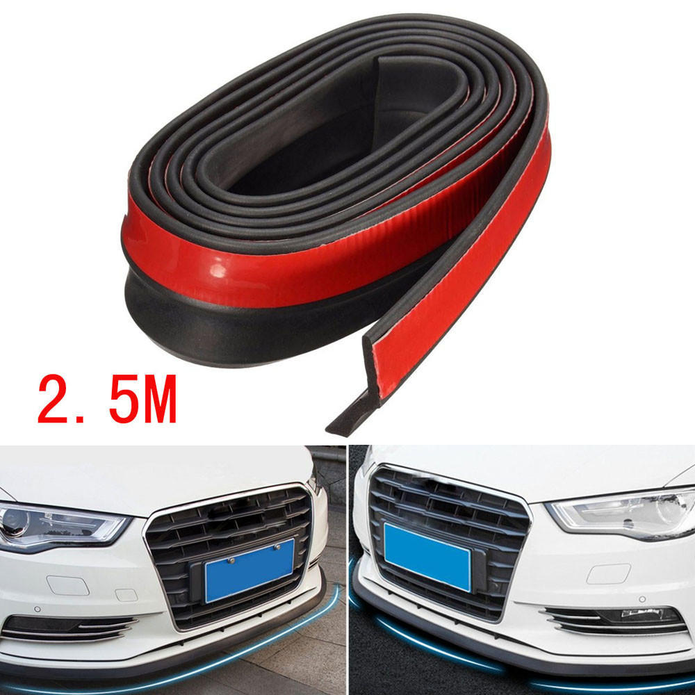 2.5M*3CM Carbon Fiber Front Bumper Lip Splitter Chin Spoiler Body Kit Universal