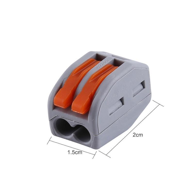 10Pcs Reusable Electrical Lever Cable Connectors Wire Terminal Block 2//3//4 Holes