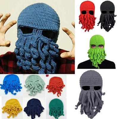 0cdbdd824 Fashion Creative Tentacle Octopus Knit Beanie Hat Cap Wind Ski ...