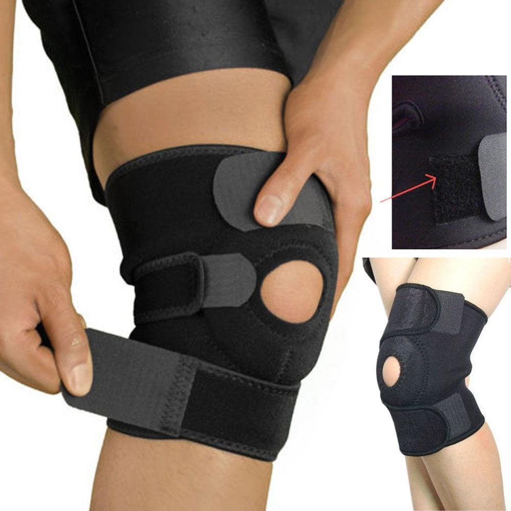 New Wrap Around Hinged Knee Brace Support Adjustable Professional Sports Safety