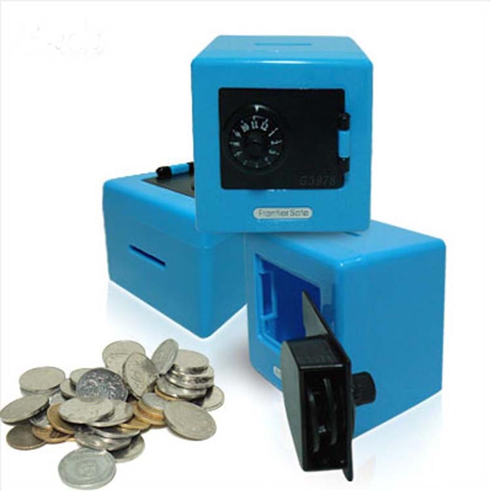 Blue Sinwo Piggy Bank Combination Lock Money Coin Saving Storage Box Code Cash Safe Case Kids Gift