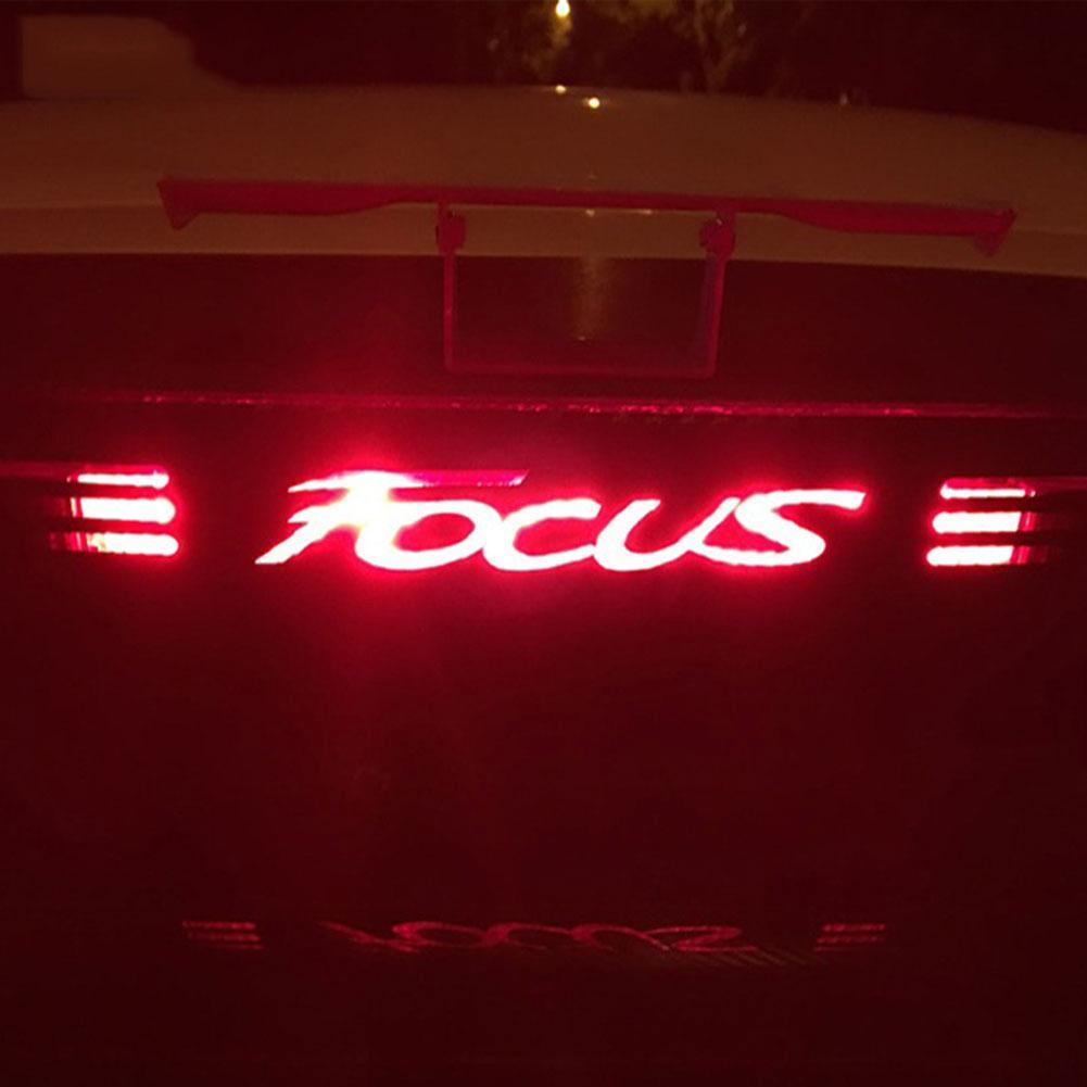 Carbon Fiber Stickers Brake Light Car Styling Decal For Ford Focus 2 3 MK2 MK3