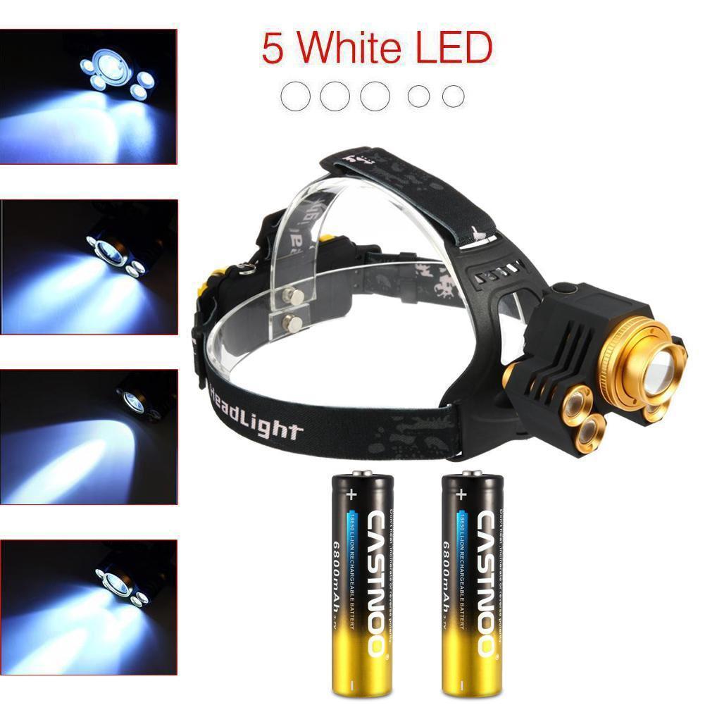 90000LM 7//9xT6 LED Headlamp USB Rechargeable 18650 Travel Headlight Torch Lamp