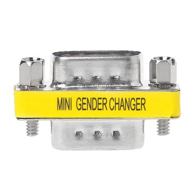 2Pcs DB9 MINI Gender Changer Adapter 9Pin RS232 Com D-Sub VGA Plug Connect