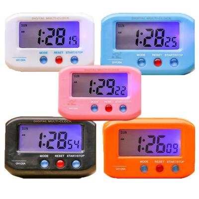 LCD Digital Clock Simple Table Car Dashboard Desk Electronic Clock Date Time Calendar Display