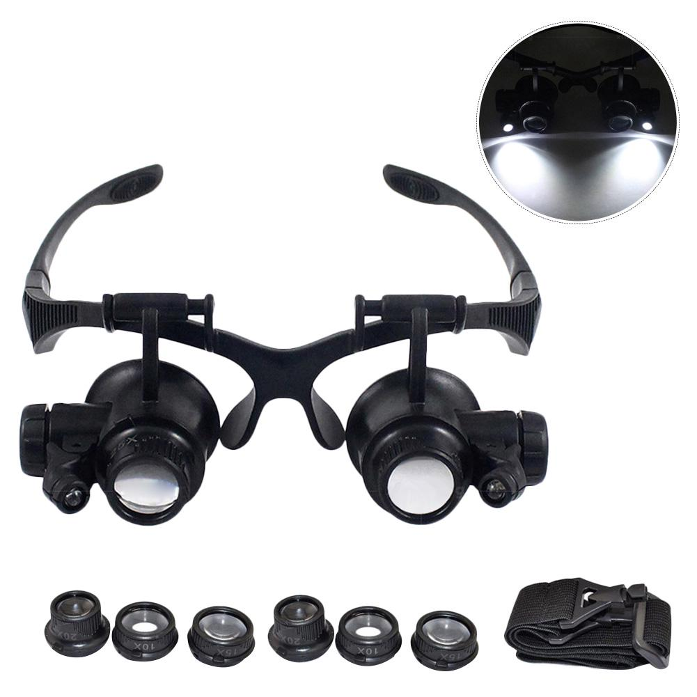 Magnifier Watchmakers Eyeglass loupe Set Glasses Spectacles Clip ON 5X
