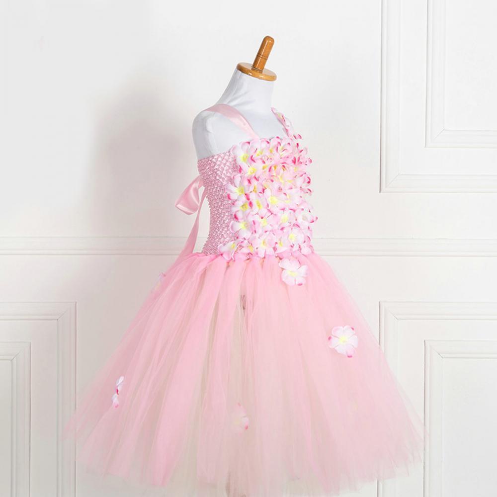 Vestido sin mangas Formal bola vestido novia princesa flor parte ...