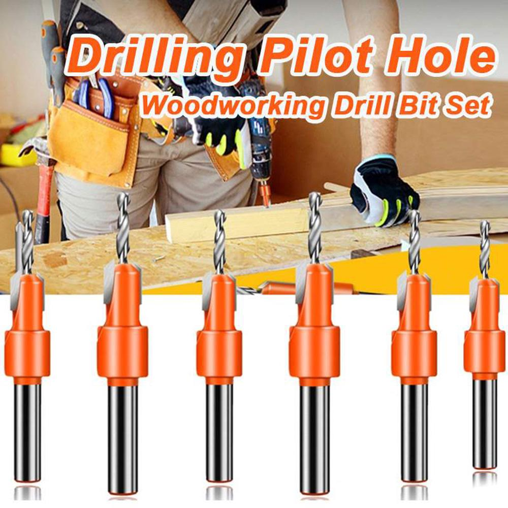 Countersink Drill Bit 4.5mm Round Shank Carbon Steel Drill Bit with Hex Key Wood DIY Tool for Wood /& Plastic
