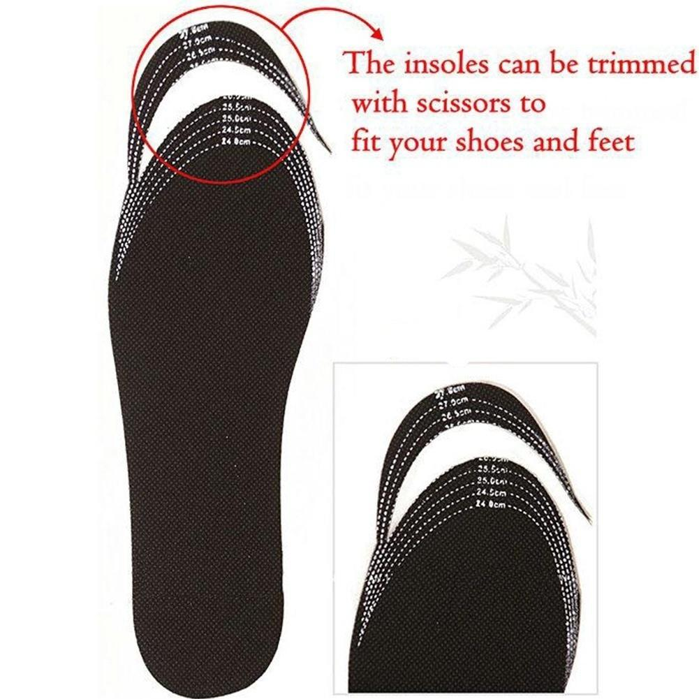 Bamboo Cushion Pads Insoles Gele Foot Inserts Shoe Deodorant Charcoal