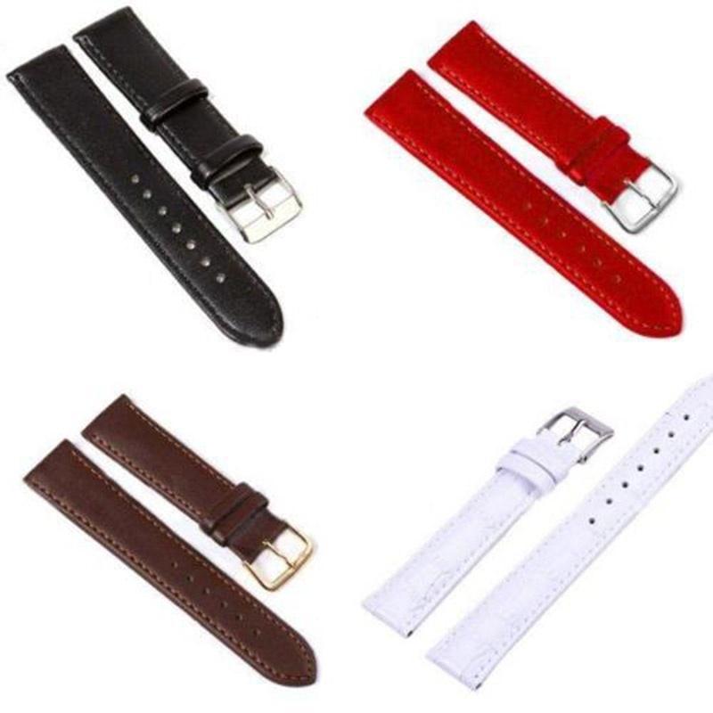 Женщины мужчины часы группа ремешок 10 мм 12 мм 14 мм 16 мм 18 мм 20 мм 22 мм 24 мм ремни смотреть ремни кожаные фото