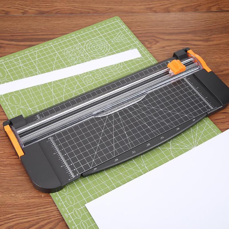 Portable Mini A5 Precision Paper Photo Trimmers DIY Scrapbook Papers Cutter Mat
