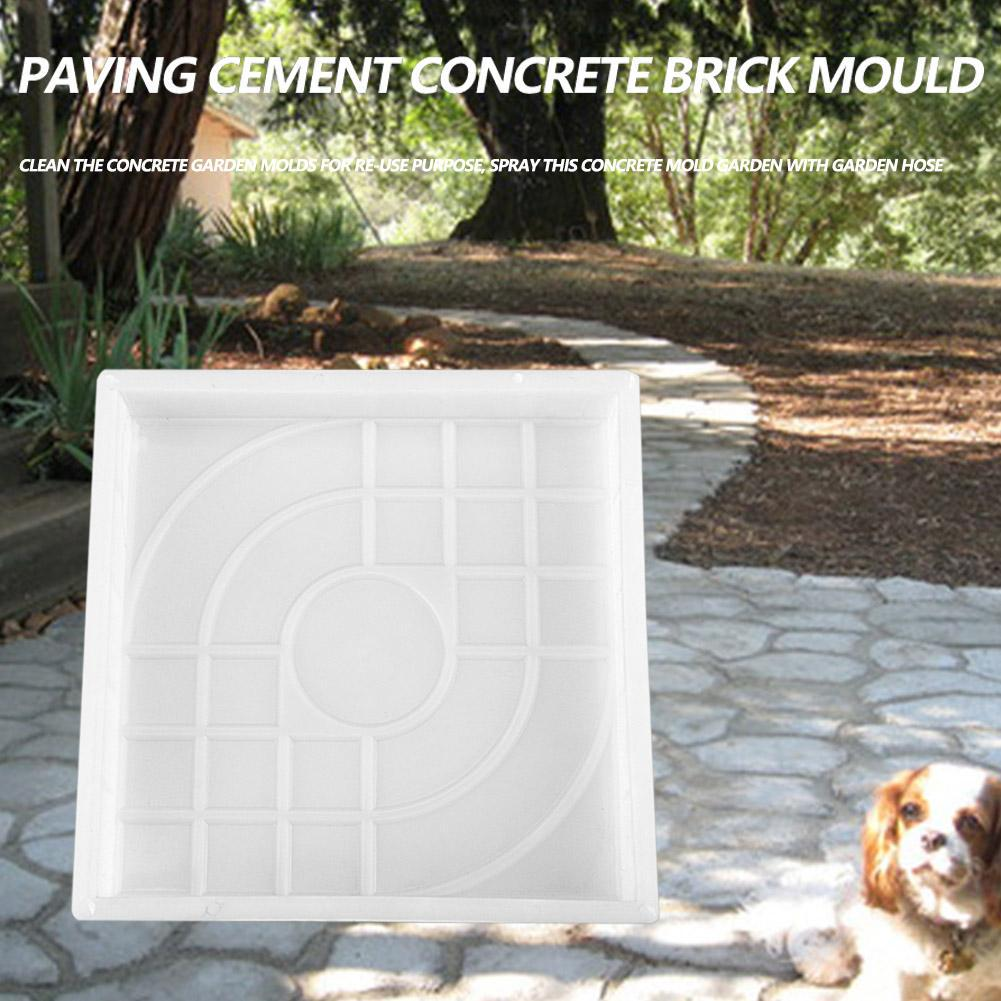 Brick Path Mold Garden Plaza Paving Pavement Walkway Cement Mould Wave Shaped