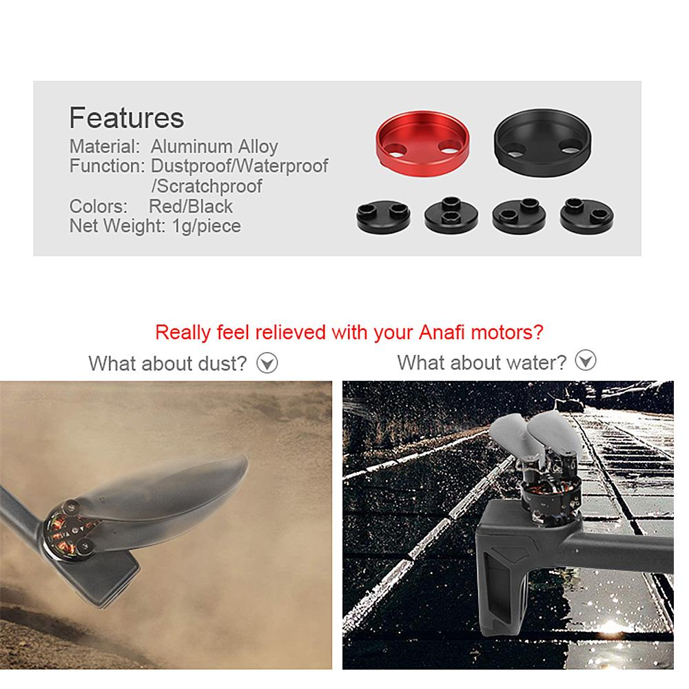 4pcs Metal Motor Covers Dustproof Waterproof Protective for Parrot Anafi Drone