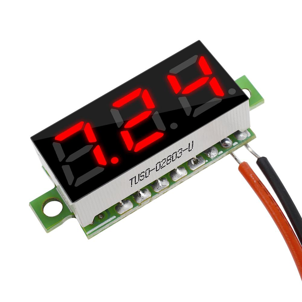 Mini Digital Voltmeter 2 Drähten Spannungsanzeige DC2.5-30V LED Panel Mete 5Pcs