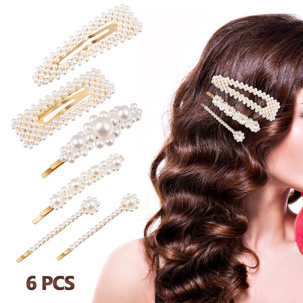 2x Bridal Hair Snap Party Wear Hairstyling Pins Kids Pin Barrettes Clips Diamond